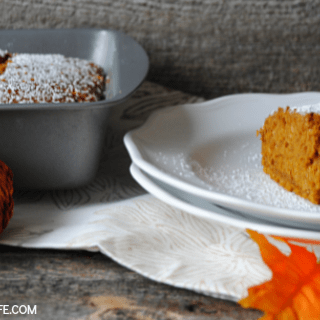 Pumpkin Gingerbread Snack Cake