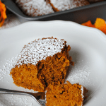 Pumpkin Gingerbread Snack Cake will disappear, so make a double batch! Good thing it only has 4 ingredients - I am making this tonight!