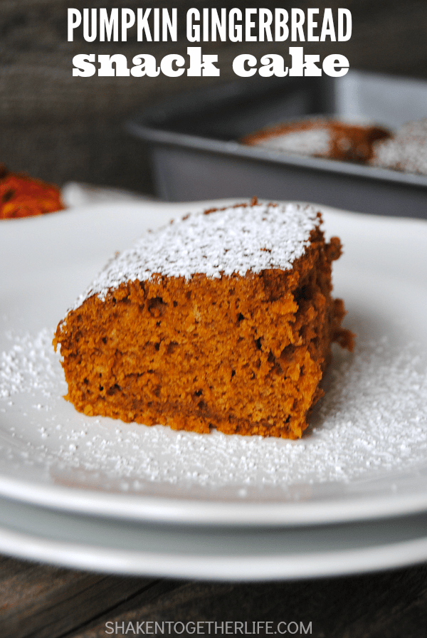 Pumpkin Gingerbread Snack Cake will disappear, so make a double batch ...