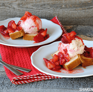 Strawberry Shortcake Sundaes