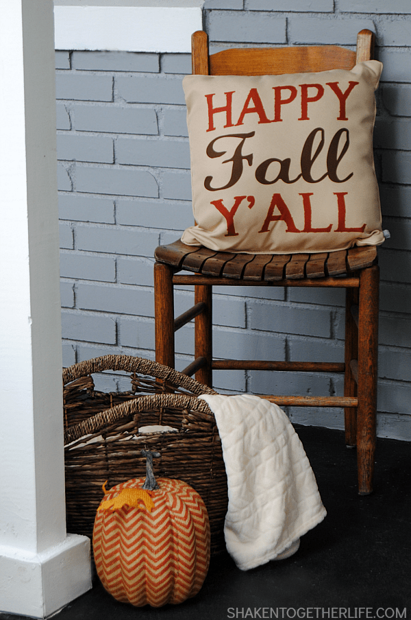 Our Fall Front Porch - a warm and inviting, bright and welcoming space that will greet our guests from now through November!