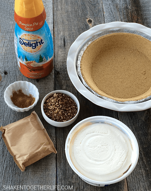 You only need 6 ingredients for a fantastic no-bake twist on a classic holiday dessert - No Bake Pecan Pumpkin Pie