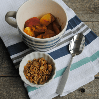 Peach Crisp for One {In One Minute!}