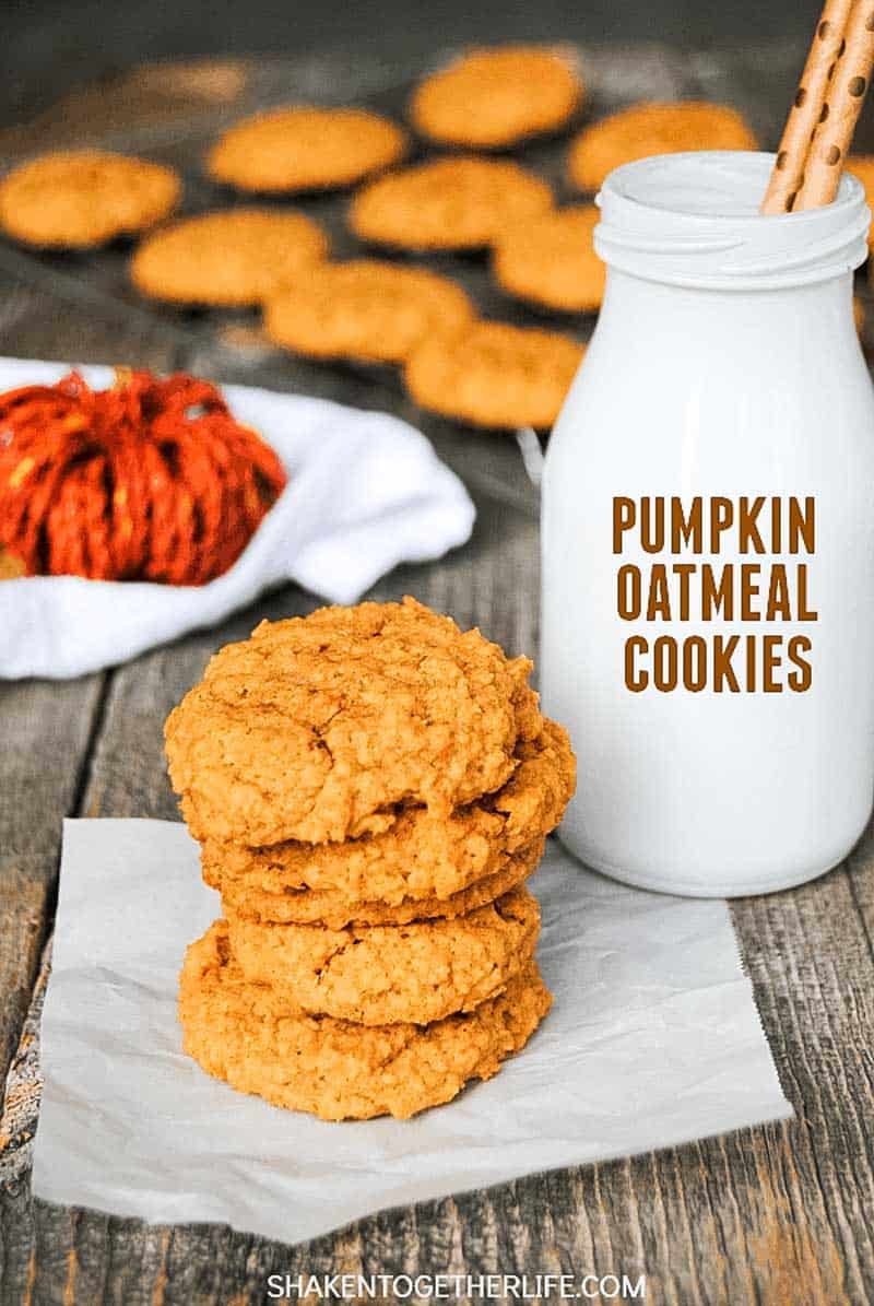 Quick and Easy 5-ingredient Pumpkin Oatmeal Cookies!