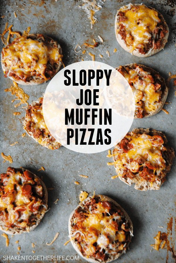 Busy weeknights call for easy dinners like these Sloppy Joe Muffin Pizzas - a twist on two of our favorite dinners!