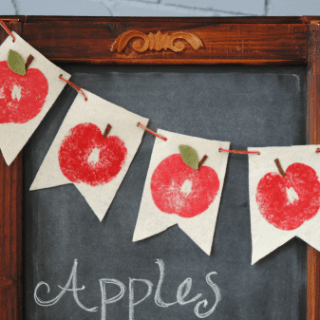 Stamped Felt Apple Banner