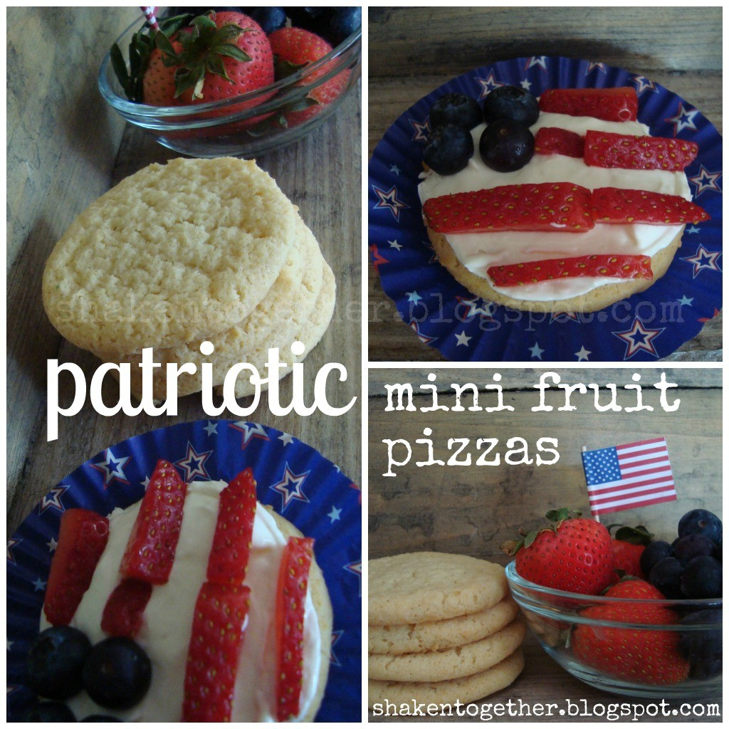 Mini fruit pizzas - start with store bought sugar cookies for an easy treat!