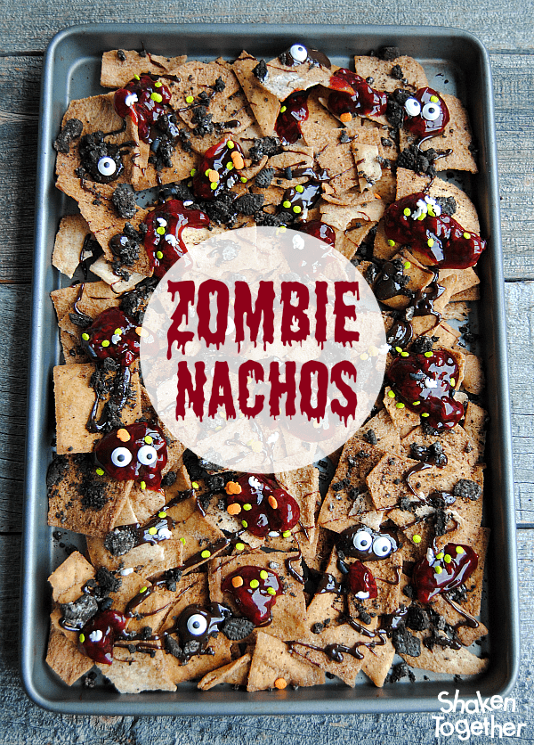 Zombie nachos halloween dessert nachos looking for an easy dessert for halloween or the walking dead party make these forumfinder Images