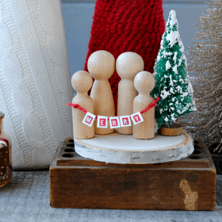 Mini Christmas Wooden Family
