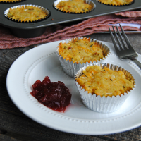Leftover Thanksgiving stuffing? Give it a tasty makeover with Cheesy Stuffing Muffins! Just add 3 ingredients and bake until golden brown and crispy!