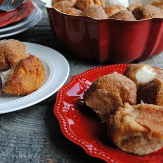 Cream Cheese Stuffed Monkey Bread Bites
