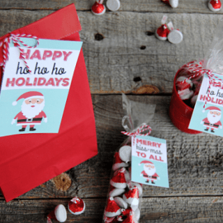 From neighbors to teachers to Secret Santa, these 3 easy gifts with HERSHEY'S KISSES {and the printable Santa gift tags!} make your holiday gift giving, easy, affordable and absolutely adorable!!