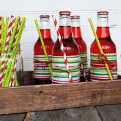 Give your party a little pop with colorful Fabric Wrapped Sodas! Change the soda and fabric to match any theme or event!