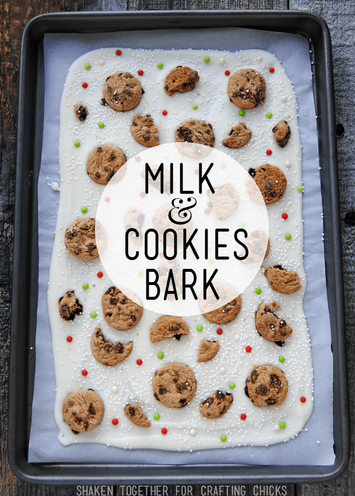 Milk & Cookies Bark - such an easy no bake treat