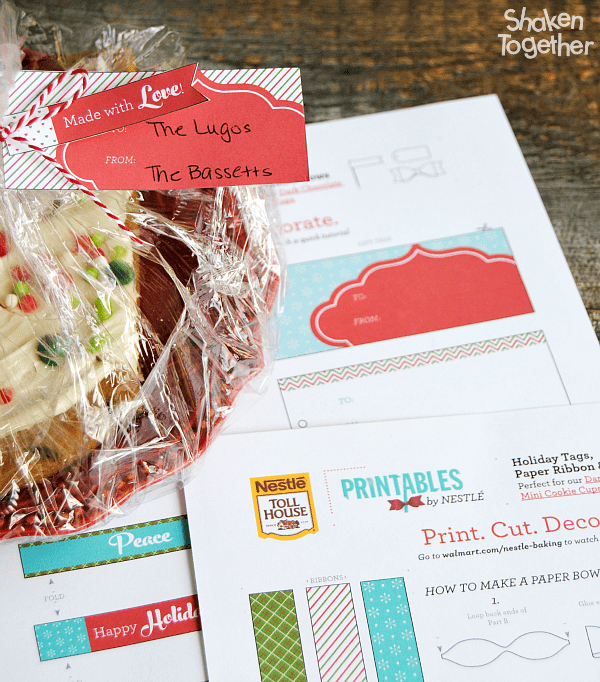 Nestle has some adorable free printables to make giving the gift of Cookies & Milk Dessert Pizza so cute!
