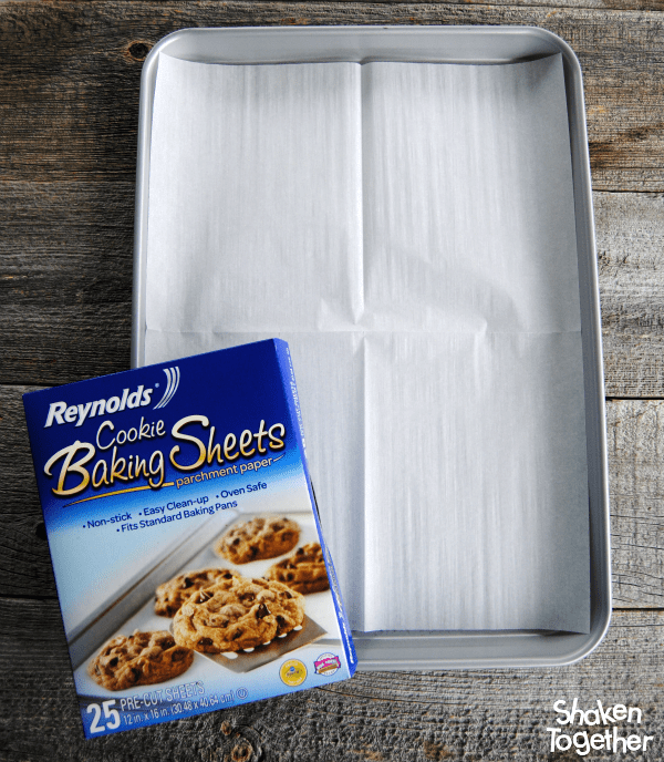 Our Jam Thumbprint Cookies bake up even and clean up is easy thanks to Reynolds Cookie Baking Sheets!