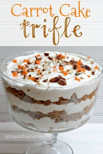 Carrot Cake Trifle - this looks like layers of amazing! From A Step in the Journey!