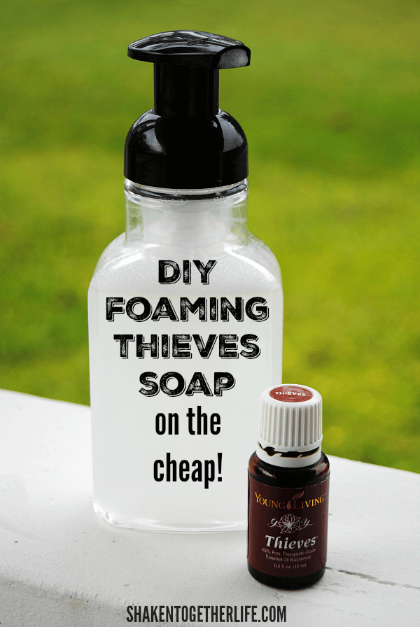 Our budget friendly secret ingredient makes it easy and less expensive to make DIY Foaming Thieves Hand Soap on the Cheap!