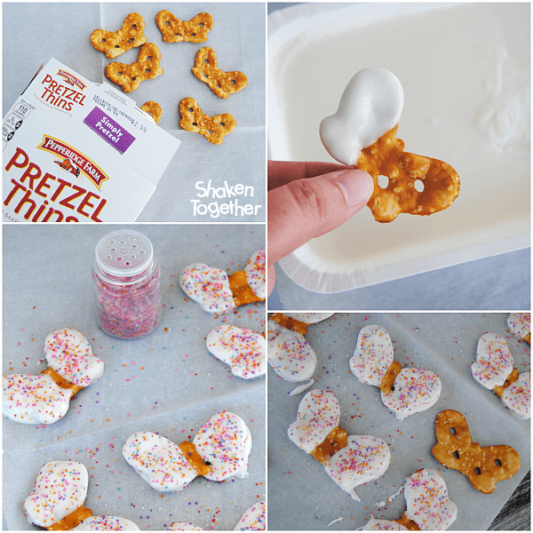 How to Make Chocolate Pretzel Butterflies for easy Butterfly Cupcakes!
