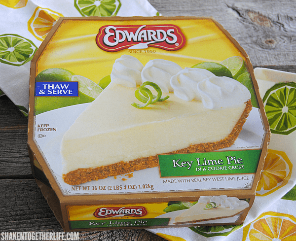 What makes this Key Lime Pie Dip so easy? An Edwards Key Lime Pie - just thaw and serve!