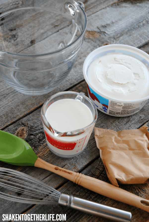 The cool creamy base of our Key Lime Pie Dip comes together with just a few ingredients and basic kitchen tools!