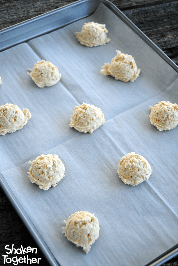Lemon Coconut Sugar Cookies - the dough is ready to pop in the oven