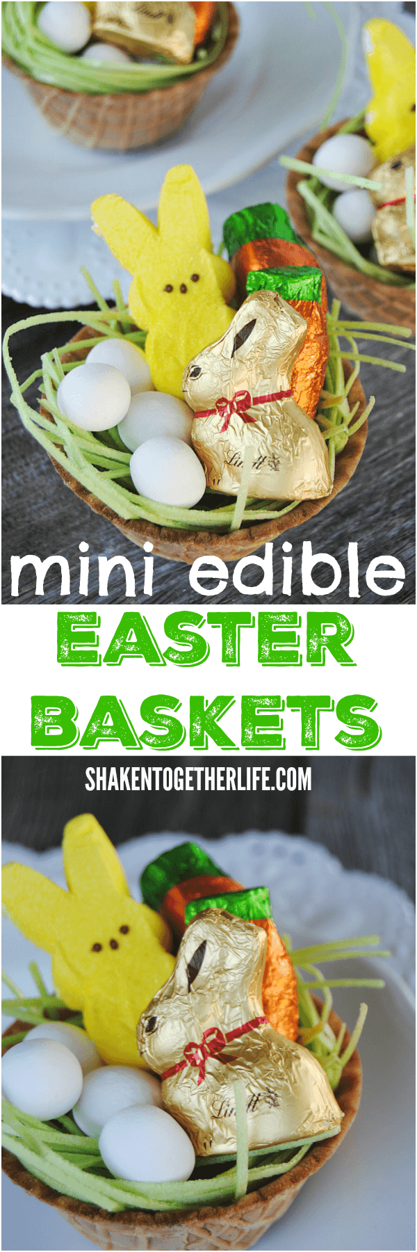 Need a fun Easter activity for the kiddos? Make Mini Edible Easter Baskets!