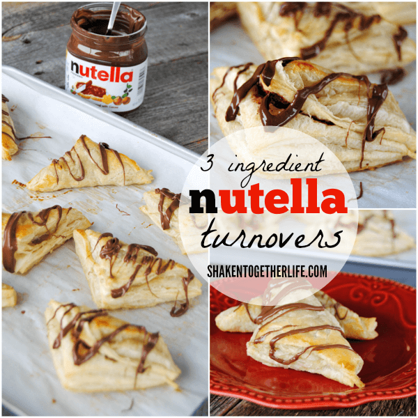nutella turnovers 4 more easy nutella desserts