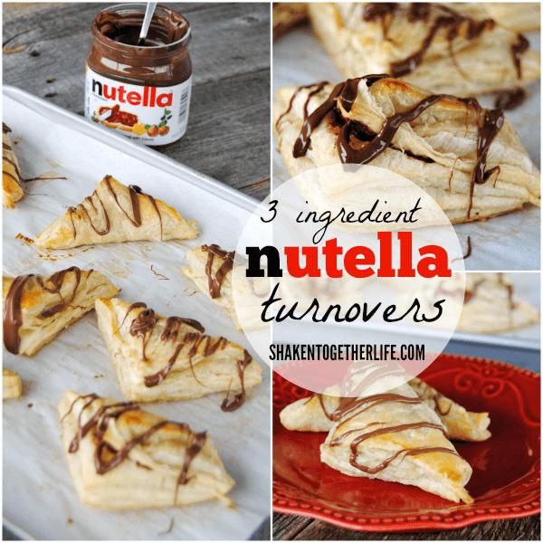 3 ingredient Nutella Turnovers - dessert this easy is dangerous!!