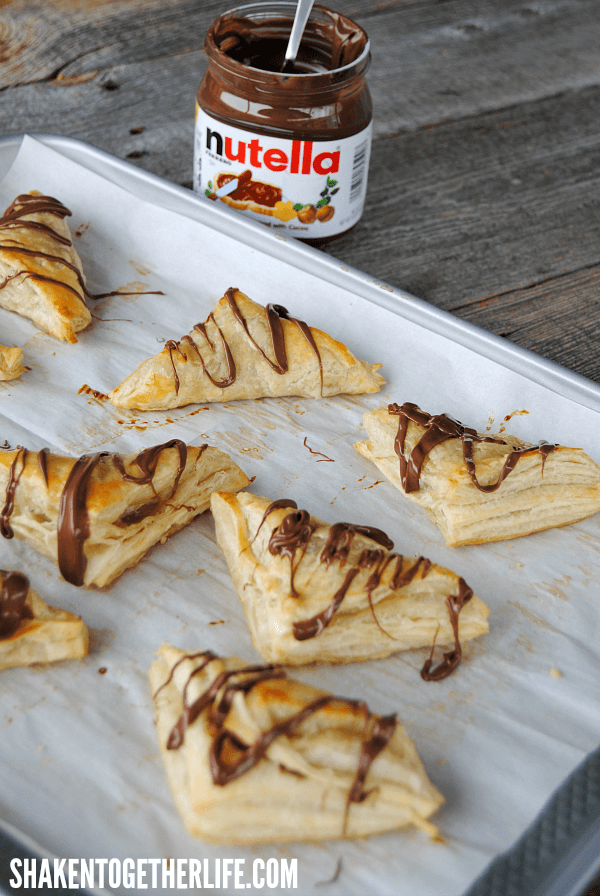 3 ingredient Nutella Turnovers - it really does not get easier or more delicious than this!