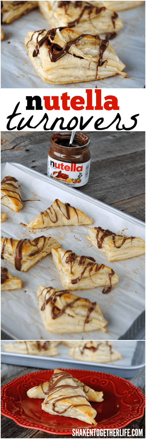 3 ingredient Nutella Turnovers - dessert this easy is dangerous!!