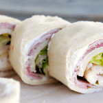 Ham & Cheese Roll Ups in tortillas