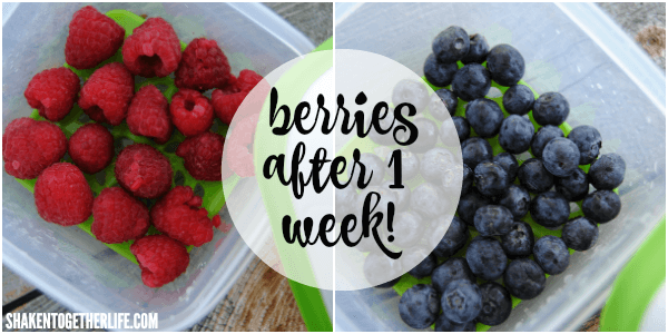 Rubbermaid Fresh Works containers keep berries fresh - perfect to top these Lemon Cream Cheese Frosted Cookies!