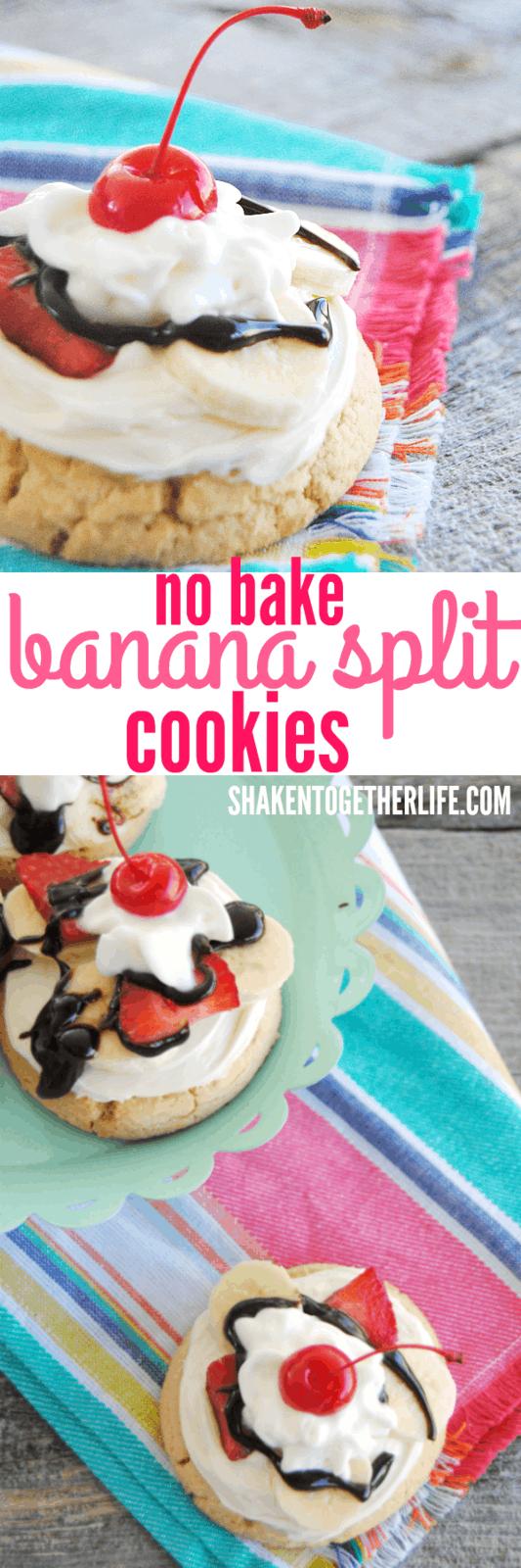 Banana Split Cookies - the ultimate easy no-bake dessert!