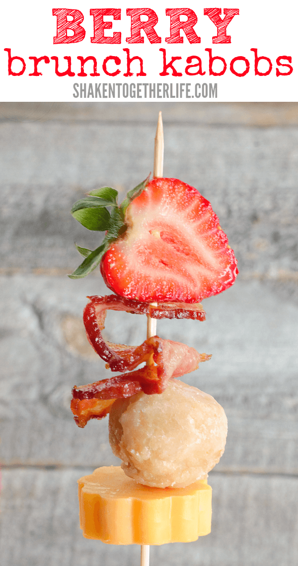 Who wouldn't love these Berry Brunch Kabobs?! They are sweet and salty and super easy for your next brunch!