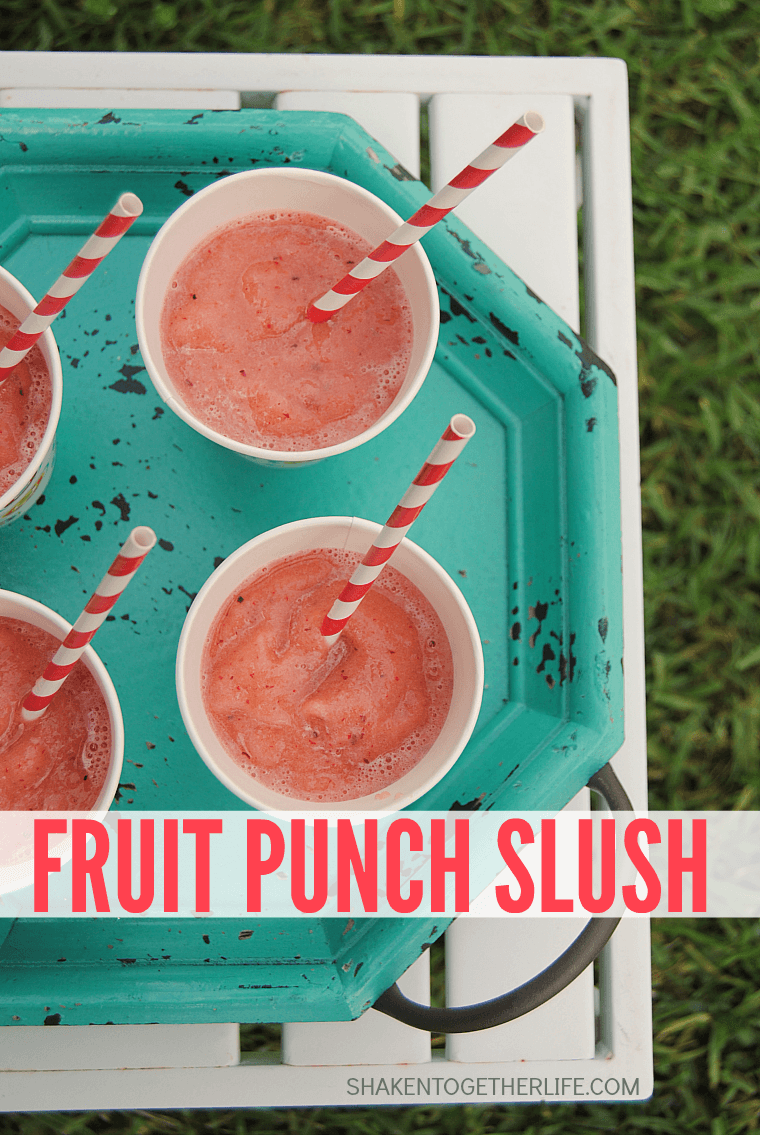Miss the ice cream truck? No worries - mix up a batch of this delicious 2 ingredient Fruit Punch Slush!