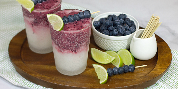 Cool off this Summer with a tart and tangy Limeade Blueberry Slush!