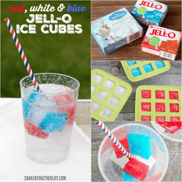 Friends and family will love these colorful no-melt Red White & Blue Jello Ice Cubes!