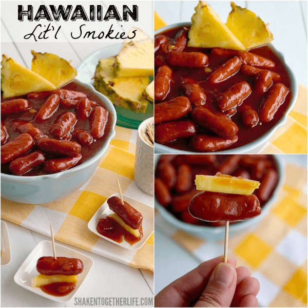 Sweet and smoky, these 3 ingredient Crock Pot Hawaiian Lit'l Smokies are a huge hit for Summer entertaining!