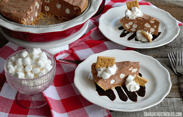 All the flavors of classic fireside s'mores in a cool, creamy no bake Frozen S'mores Pudding Pie!