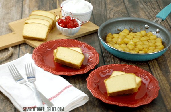 Our Pineapple Upside Down Pound Cake comes together in minutes with just a few simple ingredients!