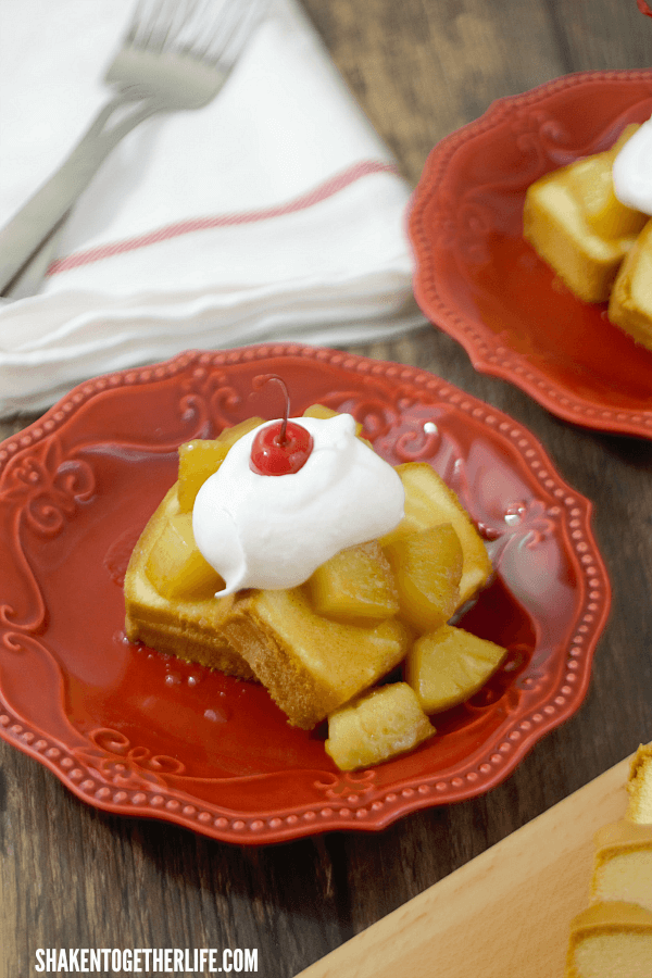 Pineapple Upside Down Pound Cake is perfect for easy Summer entertaining!