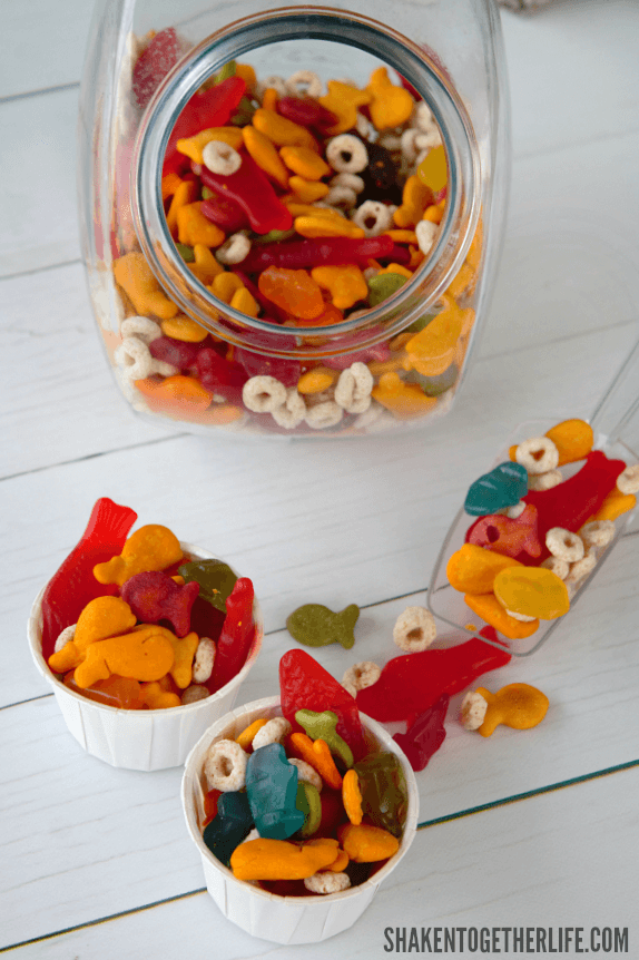 Sweet and salty, our Shark Week Snack Mix is full of shark and ocean themed munchies!
