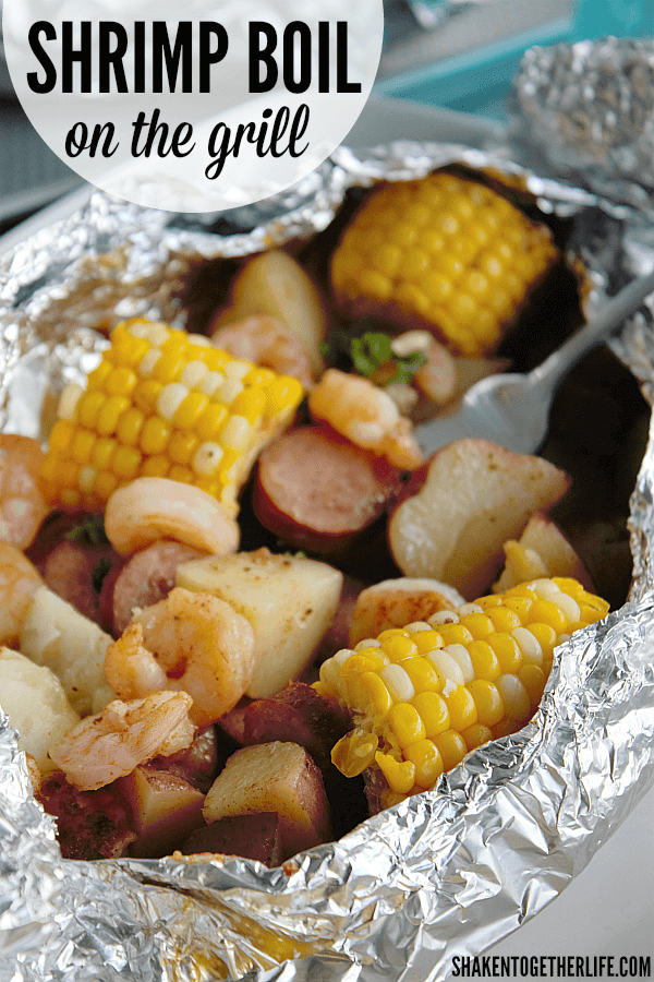 Tender shrimp, fresh sweet corn, smoky sausage and potatoes cook to perfection in our Shrimp Boil on the Grill!