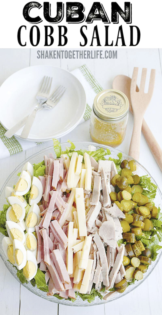 Our Cuban Cobb Salad - loaded with all the flavors of a Cuban sandwich right down to the tangy mustard vinaigrette - is a lighter way to enjoy a classic favorite!