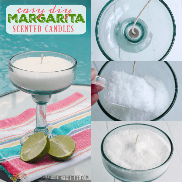 You won't believe how simple these Easy DIY Margarita Scented Candles are to make. They are done and ready to burn in just minutes!