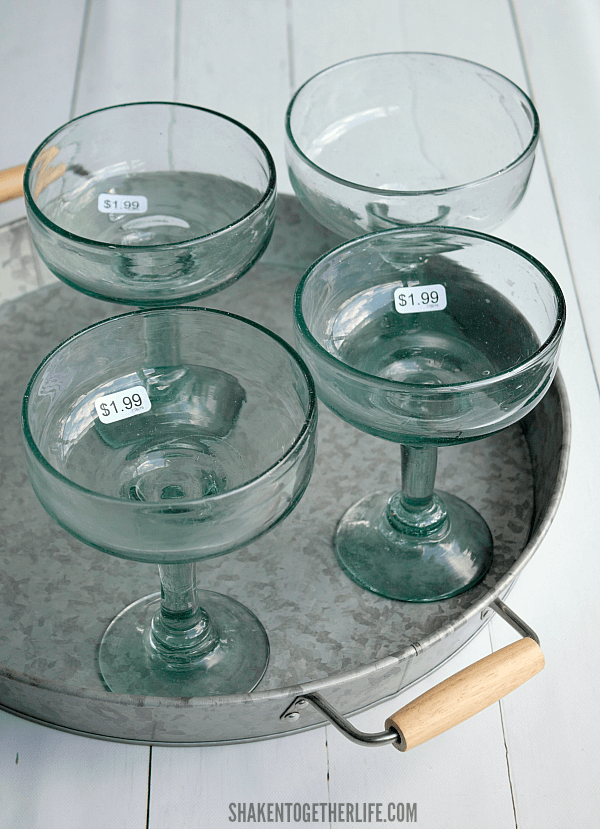 These margarita glasses from my local Habitat for Humanity ReStore became our Easy DIY Margarita Scented Candles!