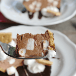 You won't be able to stop at just one bite of this creamy, dreamy Frozen S'mores Pudding Pie!