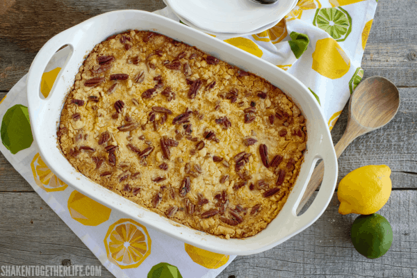 With just 5 ingredients, this Lemon Lime Dump Cake could not be easier! Just dump, bake and dig in!