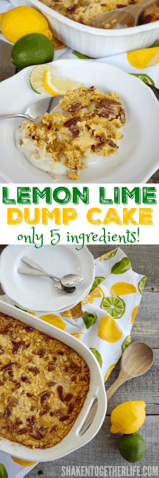 With only 5 ingredients, this Lemon Lime Dump Cake could not be easier to make! You will love the BIG lemon lime flavor!